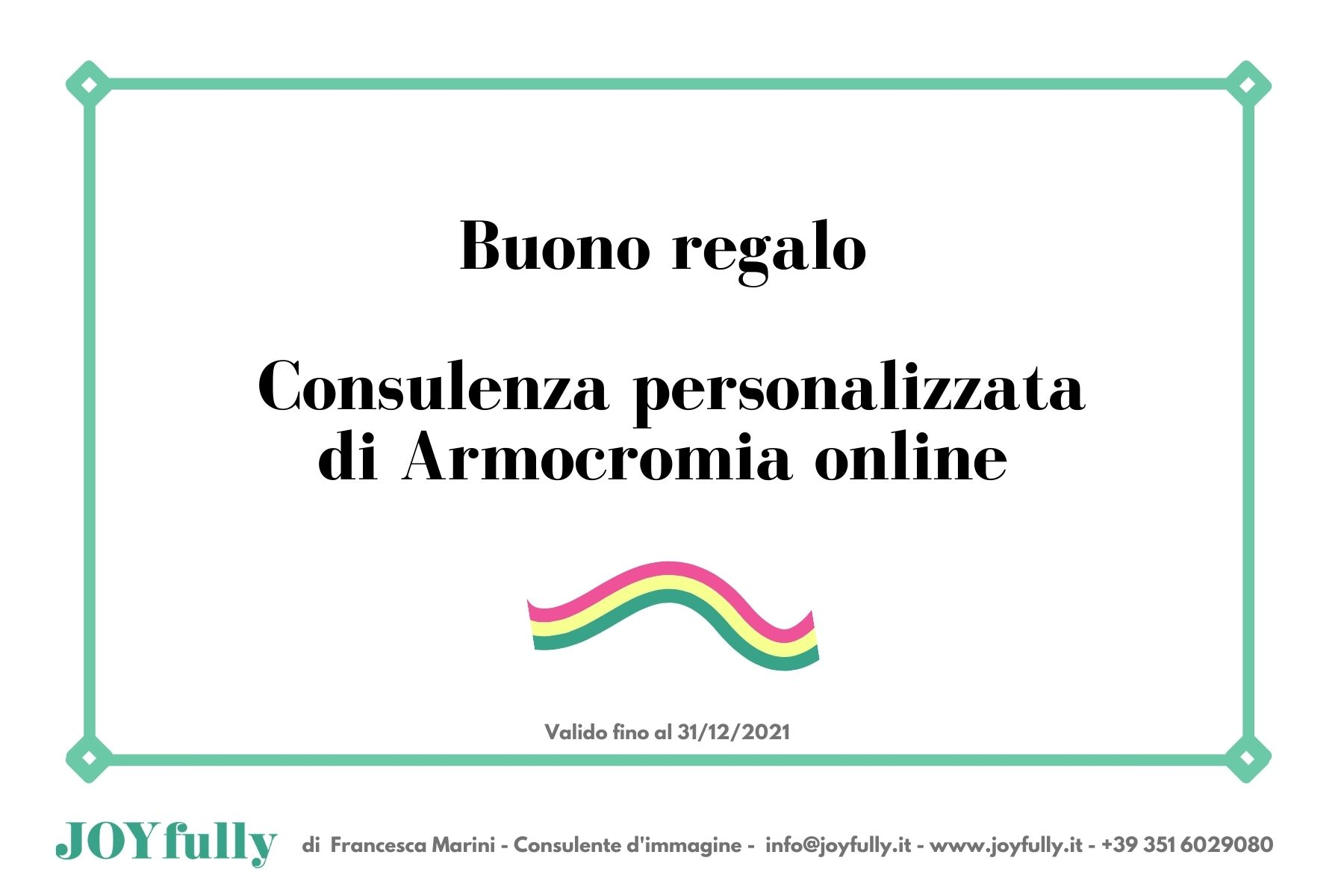 Gift Card Armocromia Online
